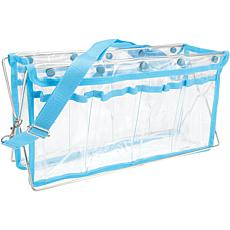 Deluxe Handy Caddy - Clear with Turquoise Trim