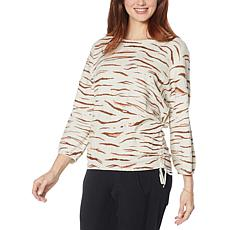 Democracy Animal-Print Two Pocket Sweater