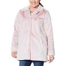 Democracy Fully Lined Faux Fur Coat with Frosted Tipping