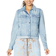 Democracy Puff Shoulder Denim Jacket
