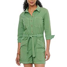 Democracy Roll Cuff Romper