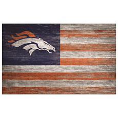 Denver Broncos Distressed Flag 11x19
