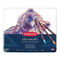 DERWENT Coloursoft 24-piece Colored Pencil Set