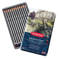 DERWENT Graphitint 12-piece Graphite Colored Pencil Set