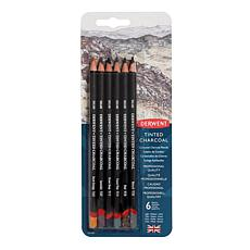 DERWENT Tinted Charcoal Pencil Set of 6