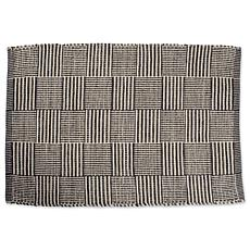 Design Imports 2' x 3' Reversible Squares Recycled Yarn Rug