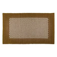 "Design Imports 20"" x 31.5"" Reversible Bordered Small Diamond Rug"