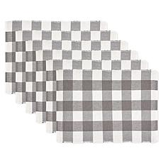 Design Imports 6-pack Buffalo Check Ribbed Placemats