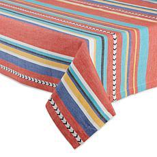 """Design Imports 60"""" x 84"""" Verano Stripe Tablecloth"""