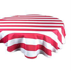 "Design Imports Cabana Stripe Outdoor Tablecloth - 60"" Round"