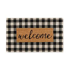 Design Imports Checkers Welcome Doormat