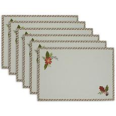Design Imports Fall In Love Reversible Embellished Placemats Set of 6