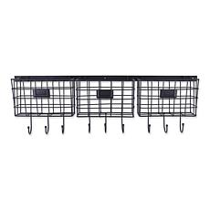 Design Imports Farmhouse Wire Wall Organizer with Hooks