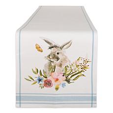 "Design Imports Garden Bunny Printed Table Runner - 14"" x 72"""