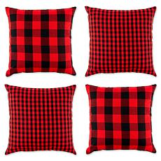 Design Imports Gingham Buffalo Check Pillow Covers Set of 4