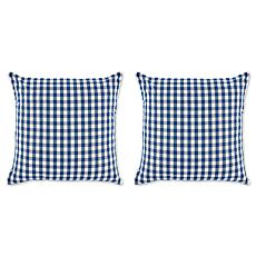 Design Imports Gingham Pillow Covers Set of 2