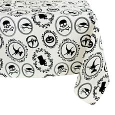 "Design Imports Halloween Portrait Print 52""x 52""Tablecloth"