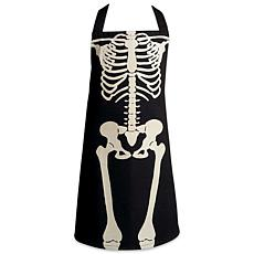 Design Imports Halloween Skeleton Chef Apron