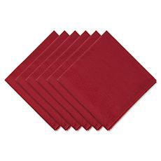 Design Imports Harvest Dobby Stripe Napkin Set of 6