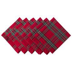 Design Imports Holiday Plaid Napkin Set of 6
