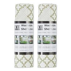 Design Imports Lattice Shelf Liners 2-pack