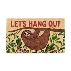 "Design Imports ""Let's Hang Out"" Sloth Doormat"