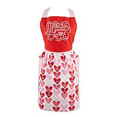 Design Imports Love Print Skirt Apron
