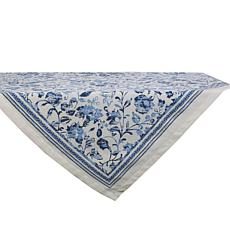 """Design Imports Madiera Print Table Topper 40"""" x 40"""""""