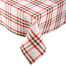 Design Imports Nutcracker Plaid Tablecloth - 60 x 104""