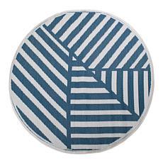 Design Imports Outdoor Rug 5' Round - Geometric