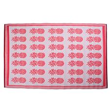Design Imports Pineapple Outdoor Rug 4' x 6'