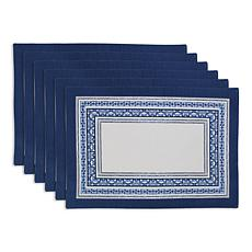 Design Imports Porto Stripe Print Placemat 6-pack