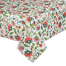 """Design Imports Print Outdoor Tablecloth - 60"""" x 84"""""""