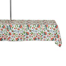 """Design Imports Print Outdoor Tablecloth with Zipper - 60"""" x 120"""""""