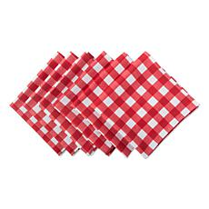 Design Imports Red Check Print Outdoor Napkin Set of 6