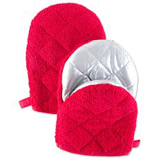 Design Imports Short Terry Oven Mitt Set of 2