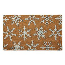 Design Imports Silver Snowflakes Doormat