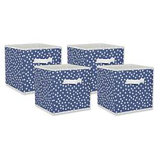 "Design Imports Small Dots 11"" Storage Cube 4-pack"