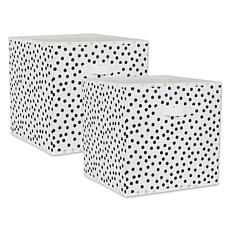 """Design Imports Small Dots 13"""" Storage Cube 2-pack"""