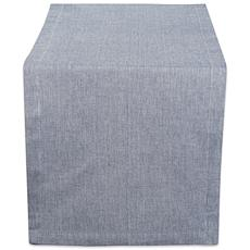 """Design Imports Solid Chambray 14"""" x 108"""" Table Runner"""