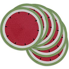 Design Imports Summer Day Watermelon Placemats 6-pack