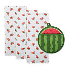 Design Imports Sweet Summer Embellished Kitchen Set 4-pack