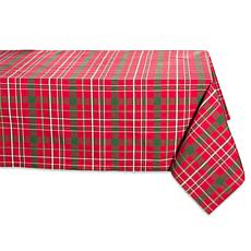 "Design Imports Tartan Holiday Plaid Tablecloth - 52"" x 52"""