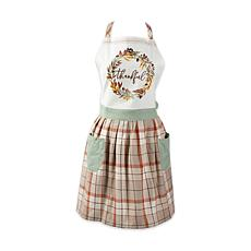 Design Imports Thankful Autumn Wreath Apron