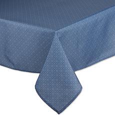 """Design Imports Tonal Lattice Outdoor Tablecloth - 60"""" x 84"""""""