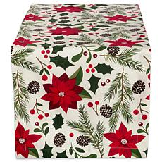 Design Imports Woodland Christmas Table Runner 14-inch x 108-inch