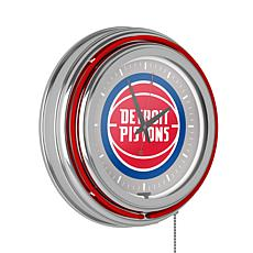 Detroit Pistons Double Ring Neon Clock