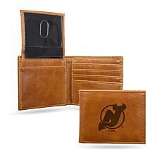 Devils Laser-Engraved Billfold Wallet - Brown