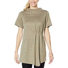 DG2 by Diane Gilman Asymmetric Pleated Top