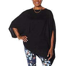 DG2 by Diane Gilman Asymmetric Twist-Front Poncho Top